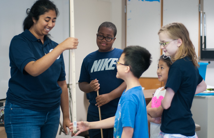 Students learn how to test and measure the quickness of their reflexes using a ruler.