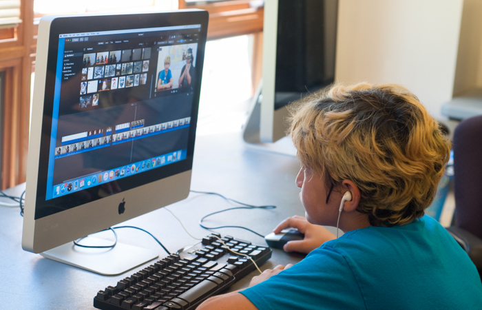 Using Final Cut, students edit their videos before uploading them to Vimeo.